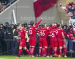 AGENCJA SITEPROMOTION - 11.11.2016 EL. MS2018 RUMUNIA - POLSKA ROAD TO WORLD CUP 2016 NATIONAL ARENA BUKARESZT FOT. MARCIN KARCZEWSKI / WWW.SUPERSTAR.COM.PL  NZ: RADOSC PO ZDOBYCIU GOLA, BRAMKA, BRAMKI, POLSKA, Kamil Grosicki (11, POLSKA), KAMIL GLIK (15), KRZYSZTOF MACZYNSKI (5), LUKASZ PISZCZEK (20), JAKUB BLASZCZYKOWSKI (16), GRZEGORZ KRYCHOWIAK (10), ROBERT LEWANDOWSKI (9)